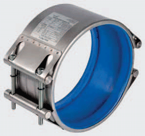 blaue Silikondichtung für Rohrkupplungen