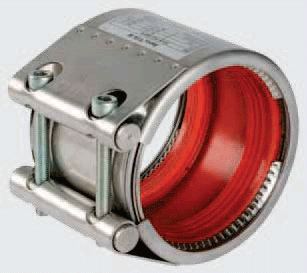 Rote Silikondichtung für Rohrkupplungen
